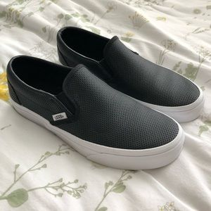 Vans Perforated Leather Slip On Sneaker **NWOB**